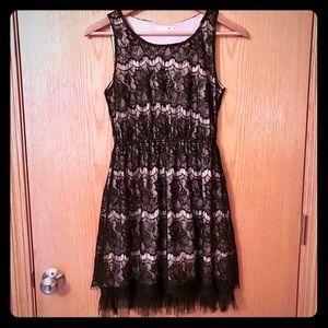 Nordstrom's Soprano black lace dress S